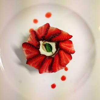 Dessert fraise-basilic