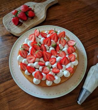 Tarte fraise et vanille
